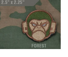 Morale Patch - MILSPEC MONKEY HEAD LOGO - FOREST pattern - WOVEN - Hook & Loop