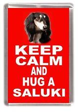 """Saluki Dog Fridge Magnet """"KEEP CALM AND HUG A SALUKI"""" by Starprint"""