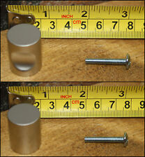 """20x Brushed Metal Cabinet Drawer Knob W/ Finger Recess 1"""" L X 5/8"""" W"""