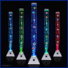 Colour Changing LED Novelty Aquarium Sensory Bubble Fish Tube Floor Lamp Lights