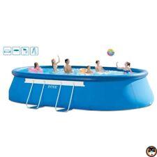 Schwimmingpool Oval Frame Pool Set 610 x 366 x 122 cm Kartuschenfilter