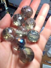 25 Pcs -  Vintage Clear/lustre Faceted Crystal Glass Beads  22mm x 21mm