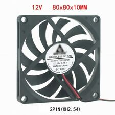 80mm 10mm 12V Cooling Case Fan 8010 2pin 80x80x10mm DC for PC Computer A540