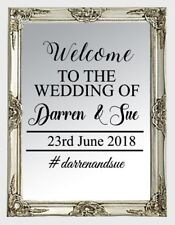 Personalise Wedding Frame Custom Venue Welcome Decor Mirror Sticker Vinyl Decal