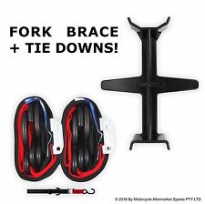 BLACK and RED Tie Down Brace Block Fork Seal Saver for DR250 DRZ250 DRZ400 E SM