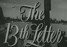 THE 13TH LETTER 1951 (DVD) LINDA DARNELL, CHARLES BOYER, MICHAEL RENNIE