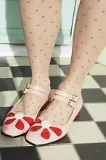 Orla Kiely Angelina Pink Leather Shoes, Size 6D EUR 39.5 and with Orla Dust bag