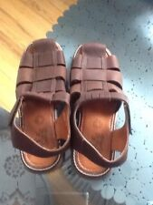 INDIOS MENS BROWN LEATHER SANDALS SIZE- 11