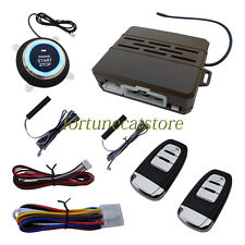Universal PKE Car Alarm System With Remote Start & Push Button Start Engine