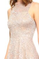 Teeze Me,Sleeveless Taupe Labe/Floral, beautiful cocktail/ Party/ wedding dress