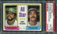 1974 Topps #338 A/S Rt Field R.Jackson/B.Williams PSA 8 NM-MT