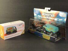 SCOOBY-DOO & MYSTERY MACHINE VAN. Monster Jam 2-Pack w/ Hot Wheel iD Mystery Vsn