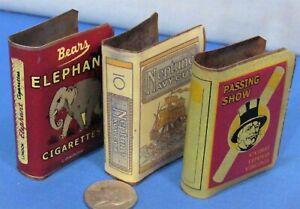 1930's Matchbox Holders ~ Tin Litho ~ England Brand Cigarette Graphics