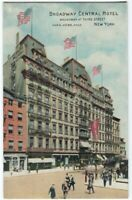 102320 BROADWAY CENTRAL HOTEL AT THIRD STREET NEW YORK CITY NY VINTAGE POSTCARD