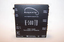 Magenta Multiview K-500 TD Video + Audio Twin Display UTP Receiver NEW