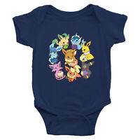 Infant Baby Rib Bodysuit Clothes Print Baby shower Gift Go Berry Anime Evolve
