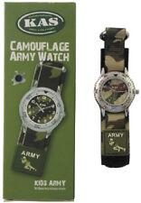 KAS Bambini Esercito Shop Boys combattimento militare gi us Watch Cinturino MIMETICO CAMOUFLAGE NUOVO