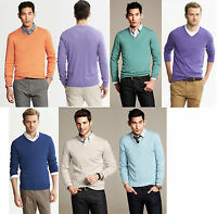 Brand NEW Banana Republic Men's Silk-Cotton-Cashmere V-Neck Sweater