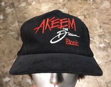 Akeem The Dream Etonic Hakeem Olajuwon Rockets NBA Corduroy Trucker Hat Rare