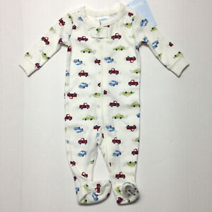 Gymboree LITTLE PICKUP TRUCK Cars 1pc Sleeper Footed Pajamas Fits Up to 7 lbs