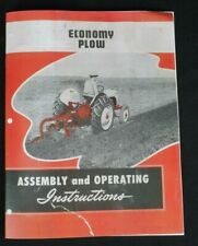 Ford Dearborn Economy 3pt Hitch Tractor Moldboard Plow Owners Manual 8n 2n 9n
