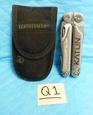 USED LEATHERMAN WAVE ONE LINE & NYLON SHEATH MULTI UTILITY FOLDING TOOL B13-Q1