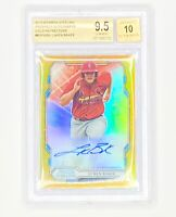 2019 Bowman Sterling Lukon Baker Rookie Gold Refractor Auto /50 RC BGS 9.5/10 🔥