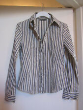 Multicoloured Stripe Semi-Fitted Stretchy Shirt in Size 10