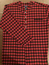 Polo Ralph Lauren Red Flannel Sleepwear Pajama Nightshirt Bathrobe Robe Plaid XL