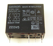 Omron Relay G2R-24 24VDC Coil Double Pole Double Throw 5A 250VAC/30VDC OM304