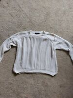 Womens M&s Jumper white size 10 chunky knit casual warm winter vgc