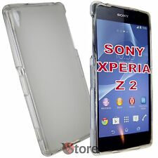 Cover Custodia Per Sony Xperia Z 2 Z2 Trasparente Retro Opaco Gel TPU