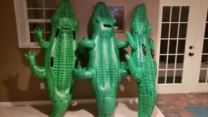 "Vintage Inflatable Intex Wet Set Gator Ride On ""U-Legs"" Version From 1999"