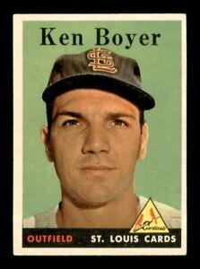 1958 Topps Set Break # 350 Ken Boyer EX-MINT *OBGcards*
