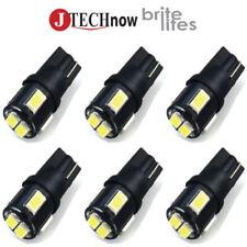 Jtech 6x T10 6 SMD LED 300 Lumens Super Bright Car Light Bulb 194 168 2825 W5W