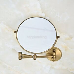 Antique Wall Mount Makeup Mirror 8 Inch 1X 3X Magnifying Double Sided Mirror
