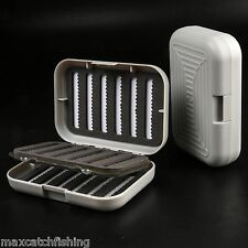 Pocket Slit foam insert Fly fishing box with swing leaf can hold 408 flies - 87g