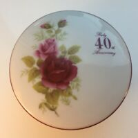 Ruby 40th Aniversary Trinket Box THE MAGESTIC COLLECTION  PORCELAIN GIFTWARE