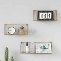 Wall Hanging Shelf Wooden Iron Wall Shelves Bathroom Living Room Bedroom Office