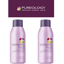 2X PUREOLOGY Serious Colour Care Hydrate Travel Size Shampoo For Dry Hair - 50ml