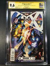 AVENGERS VS. X-MEN (2012 MARVEL) #1C CGC 9.6 SS (Signed by: STAN LEE ON 7/23/16)