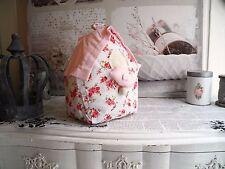 Türstopper Haus Stopper Türsack Rosa Stoff shabby chic Landhaus Vintage 0031