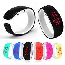 Fashion Women Ladies Sport LED Digital Silicone Wrist Watch Bracelet Waterproof