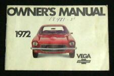 1972 CHEVROLET VEGA AUTOMOBILE OWNERS MANUAL BROCHURE BOOKLET VINTAGE CHEVY GM