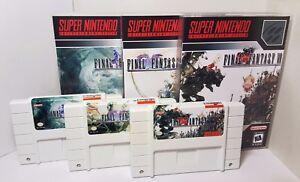 Final Fantasy IV / V / VI - 4 / 5 / 6 - English Translation NTSC SNES Media Case