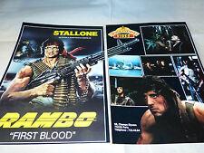 SYLVESTER STALLONE - Publicité de magazine / Advert !!! RAMBO FIRST BLOOD !!!