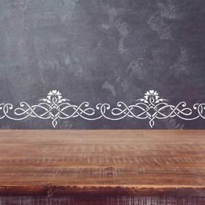 Wall Border Elegant classic stencil Pattern 097 Reusable Template for DIY decor