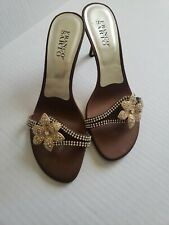 Franco Sarto brown open toe heel size 8.5