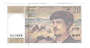 Billet 20 Francs Debussy 1992 - M.037 341989