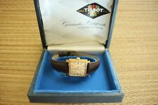 NOS VINTAGE TISSOT SEASTAR VISODATE GOLD DIAL & CASE AUTO WIND WATCH & BOX SET